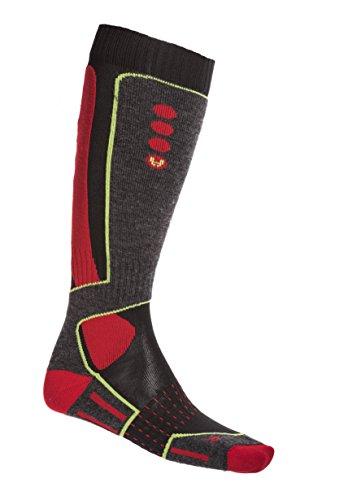 Hyra has007, Calcetines de Esquí para Hombre Multicolore (Nero/Rosso)