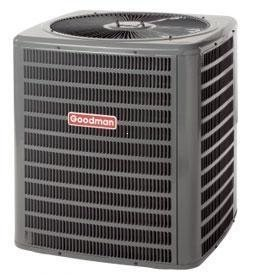 Goodman 2 Ton 16 SEER AC R-410a with Horizontal Slab Evaporator Coil GSX160241/CSCF1824N6 - With 3/8