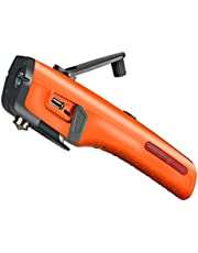 Emergency Tool LUXON 7-in-1 Car Safety Tool Includes Window Hammer Seat Belt Cutter LED Flashlight Rescue Tool Contains USB Charger SOS Light & Hand Cranking Charge for Vehicle Escape/Field Survival