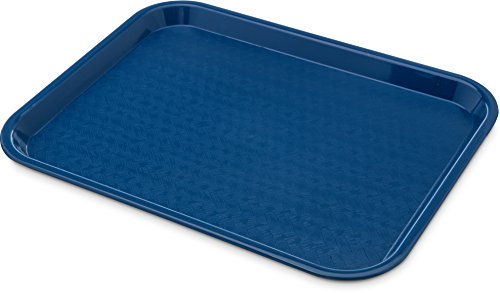 "Carlisle CT1014-8114 Café Standard Cafeteria / Fast Food Tray, 10"" x 14"", Blue (Pack of 6)"