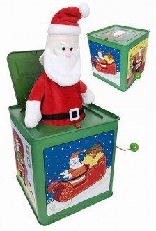 Santa Claus Jack in the Box Merry Christmas-Sock Monkeys