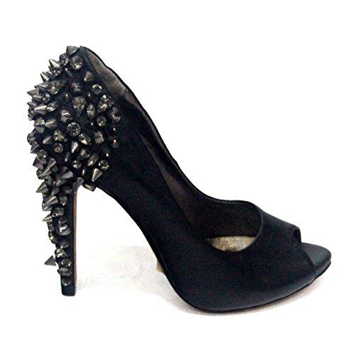 abierto picos del Sam del de Reino negro piedras tacones las Edelman Unido para de 3 de diseño dedo £195 detalle diseño y 5 Negro estándar pie de UpqZqXw