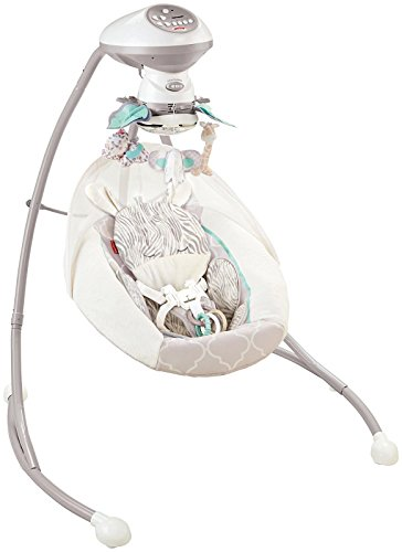 Fisher-Price Safari Dreams Cradle 'n Swing, White/Blue