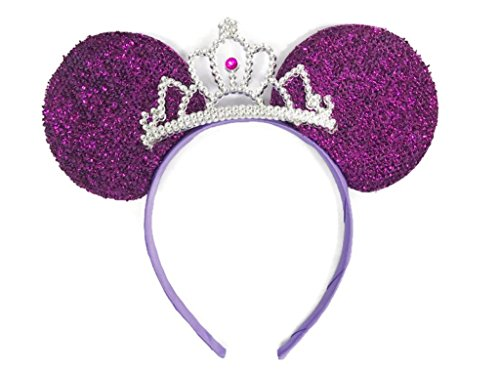MeeTHan Mickey Mouse Ears Headband Minnie Mouse ears Tiara headbands : M6 - What Face Of Is Type My Shape