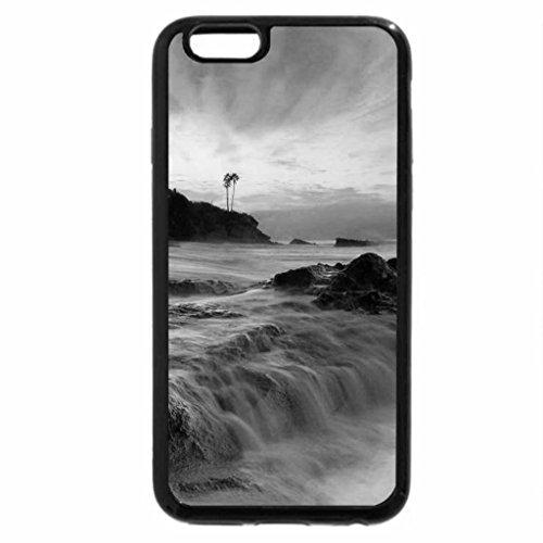 iPhone 6S Plus Case, iPhone 6 Plus Case (Black & White) - Sunrise over Laguna beach