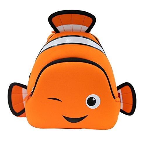 NOHOO 3D Finding Nemo Toddler Sidekick Bags Cownfish Preschool Backpack