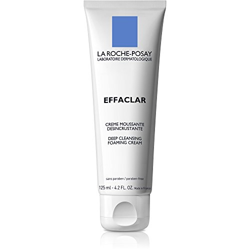 La Roche-Posay Effaclar Deep Cleansing Foaming Cream Cleanser for Oily Skin, 4.2 Fl. Oz.