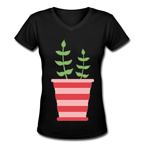LJQ love Women's pot culture diy 2016 women's t shirt Black