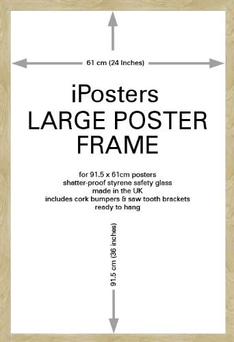 Iposters Oak Wood Effect Large Poster Frame For 36 X 24 Inch