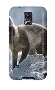 Galaxy S5 Case Cover - Slim Fit Tpu Protector Shock Absorbent Case (arctic Foxes )