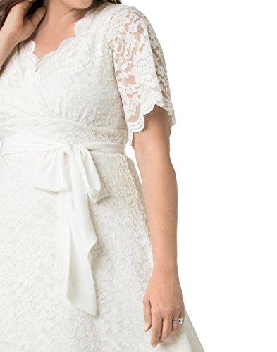 Kiyonna Women's Plus Size Graced With Love Wedding Dress 1X Ivory