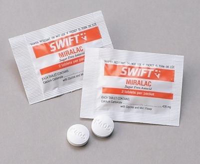 - Honeywell 171550 North by Swift First Aid Miralac Sugar Free Antacid Indigestion Tablet, Plastic, 1