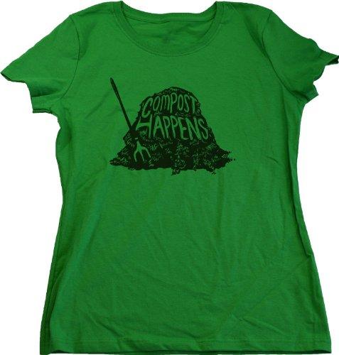 Ann Arbor T-Shirt Co. Women's Compost Happens Cut T-Shirt
