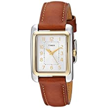Timex Women's TW2R89600 Meriden Brown/Two-Tone Leather Strap Watch