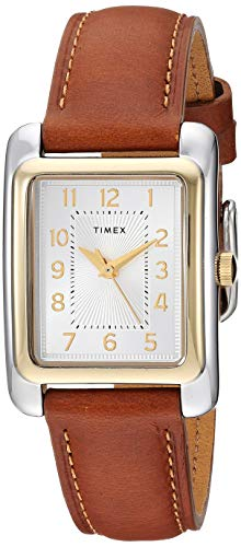 (Timex Women's TW2R89600 Meriden Brown/Two-Tone Leather Strap Watch)