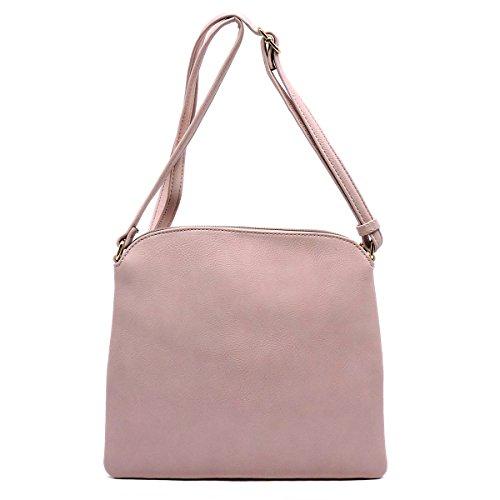 Body Purse Zipper Fashion by Handbag Glad Front Tassel Cross Taupe with TAdw5Tq