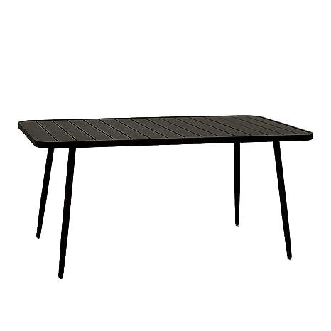 Tavoli Da Giardino In Alluminio Amazon.Adami Tavolo Da Giardino In Alluminio Rettangolare 80x160x76cm Las