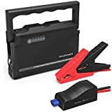 Car Jump Starter RAVPower 600A Peak 18000mAh 12V (Up to 6L Gas or 3L Diesel Engine) External Battery Pack with Dual iSmart USB Ports Built-in LED Flashlight Car Battery Booster (Black)