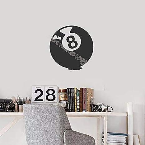 jiushivr Bola Billar Pool Ocho números Etiqueta de la Pared Juego de Billar Jugar Hobby Sport Diseño Patrón Mural Estudio de Billar Calcomanías 56x56cm: Amazon.es: Hogar