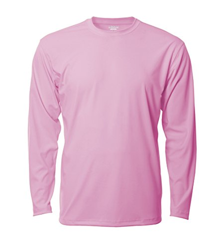 Denali Performance Men's UPF 50+ ProtectUV Mega Solar Long Sleeve T-Shirt, Candy Pink, Large (Long Action Sleeve T-shirt)