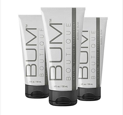 Get a Bigger Butt with Bum Boutique's Natural Butt Enhancement Cream - Love your Bum and your Bum will love you back! (3 Month Supply) (Best Squats For Your Bum)
