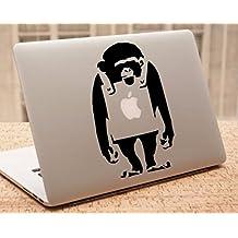 "Decal - Banksy MacBook Decal - Monkey Overalls - Banksy Stencil Laptop Sticker (15"" MacBook)"