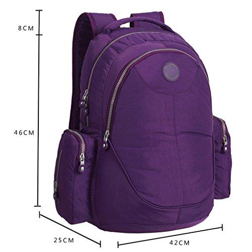 De gran tamaño para de la mochila de LCY de la capacidad de pañales de bebé en los cambios de bolsa de pañales bolsa para la compra morado morado morado