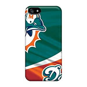 CharlesPoirier Iphone 5/5s Best Hard Phone Covers Provide Private Custom High-definition Miami Dolphins Skin [pxP11136tAZG]