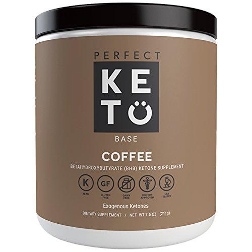 Perfect Keto Base Exogenous Ketone Supplement - Beta-Hydroxybutyrate (BHB) Salts Developed to Burn Fat, Increase Energy and Kickstart Ketosis.(211g) (Coffee)