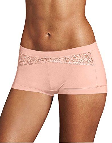 Maidenform Dream Boyshorts Sassy Pearl Blush Dot 7 (Sassy Panties)