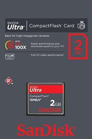 Amazon.com: SanDisk Ultra CompactFlash 2 GB Memory Card 15MB ...