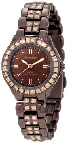 Armitron Women's 75/3689BMIB Swarovski Crystal Accented Brown Ion-Plated Bracelet Watch