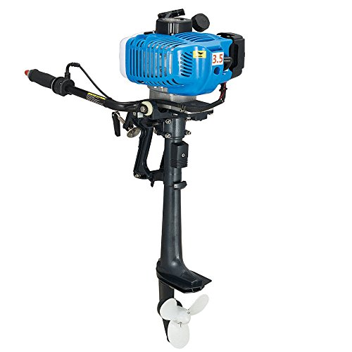 - NICE CHOOSE Outboard Motor, 2 Stroke 3.5HP Heavy Duty Outboard Motor Inflatable Fishing Boat Engine with Air Cooling System (US Shipping)