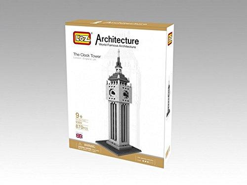 British Clock Tower Model Small Building Block Set, Makes a Great Stocking Stuffer 9369 LOZ Micro Blocks 870 pcs