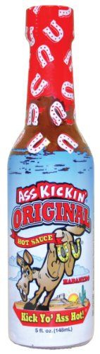 - ASS KICKIN' Original Hot Sauce with Serrano and Habanero Peppers- 5 oz - Try if you dare - Perfect Gourmet Gift for the Hot Sauce Fan