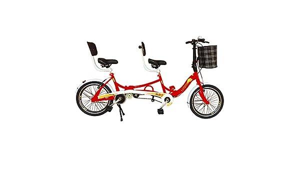 SYLTL Bicicleta Tándem 20in Doble Plegable Pareja Doble Paseo ...
