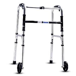 Andador plegable, soporte con ruedas delanteras para adultos ...