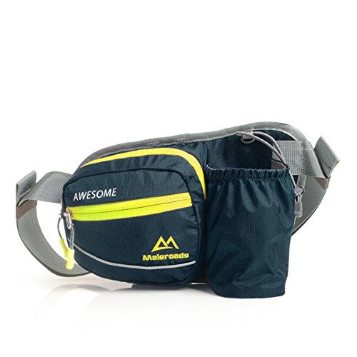 Funcionamiento bolsa de cintura/Bolsillos de botella de deportes/Paquetes corrientes Off-Road al aire libre/Maratón para hombres y mujeres/Bolsillos exteriores-Rosa roja Azul oscuro