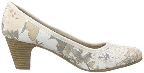 s.Oliver 22417 - Tacones Mujer Beige - Beige (BEIGE FLOWER 407)