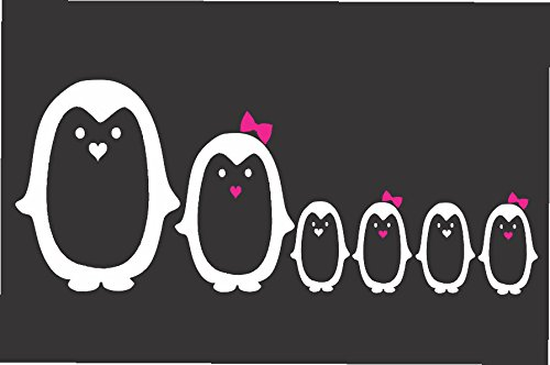 Cute Penguin Family- Die Cut Vinyl Window Decal/sticker for Car , Truck, Laptop (Penguin Window)