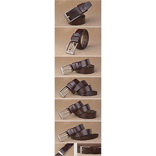 Diseñador negro   café hombres de lujo cinturones de cuero genuino quares  correa cinturones para los dc1aa28fcd9
