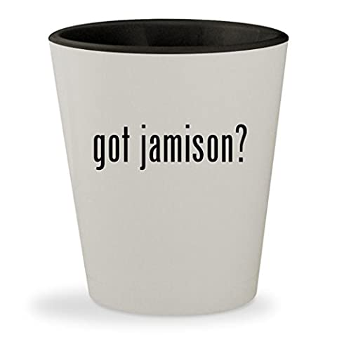 got jamison? - White Outer & Black Inner Ceramic 1.5oz Shot Glass (Dv Jamison)