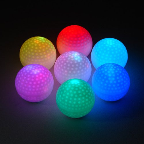 48 Light up Ice Cubes - Golf Ball - Color Changing