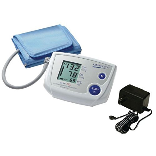 Physical Therapy Aids 081146521 Lifesource UA-767Pac One Step Plus Memory Monitor, Shape, ()