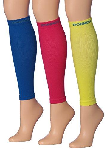 Calf Compression Sleeve 3-Pairs (16-20 mmHg is Best Athletic & Medical for Men & Women,Travel,Running,Nurses,Flight,Edema (CP02-C-M ()