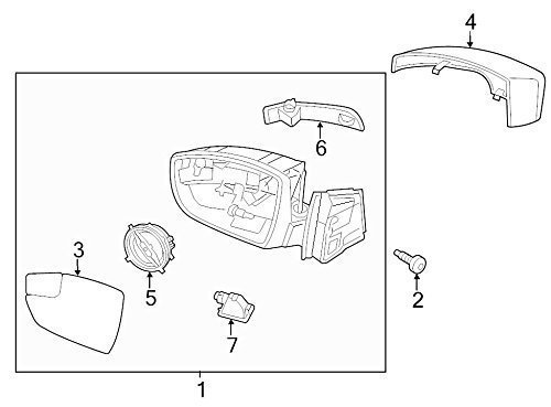 Amazon Com Genuine Ford Cp9z 17d743 Ca Mirror Housing Cover Automotive