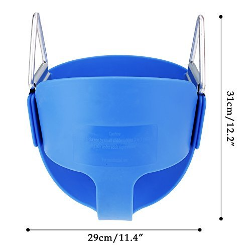 Toddler Bucket Swing Seat Set Playset for Baby Playground Park Toys without Coated Chain (Blue)