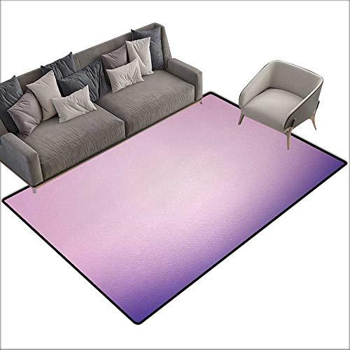 Girl Bedroom mat Lavender Pink and Purple Ombre Print Modern Pastel Color Gradient Design Digital Art W59 xL94 Suitable for Bedroom, Living Room, Games Room, Foyer or Dining Room