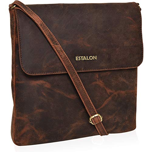 Leather Crossbody Purse for Women- Premium Crossover Cross Body Bag Over the Shoulder Luxury Premium crossbody (Brown Crazy Horse with Flap)