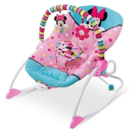 Durable Disney Minnie Mouse Peekaboo Infant To Toddler Rocker by Disney